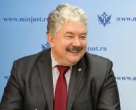 Ryskt politiskt, statligt och vetenskapligt diagram Doktor av lag, kandidat i presidentvalet i 2018, Sergei Baburin Royaltyfri Bild