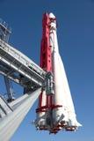 Ryskt rymdskepp Vostok i Moskva Arkivfoto