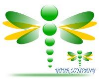 Rysować dragonfly firmy logo royalty ilustracja