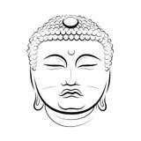 Rysować Buddha głowę Zdjęcie Stock