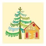 Rysować dom Obrazy Royalty Free