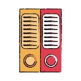Rysować dwa falcówek dokumentu archiwum folio biuro ilustracji