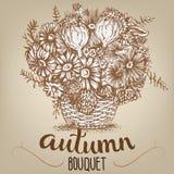 Rysować jesień bukiet Obrazy Royalty Free