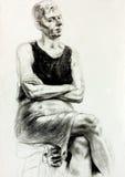 Rysować kobieta royalty ilustracja
