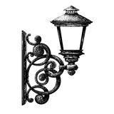 Rysować latarnia uliczna, lamppost, candlestick ilustracji