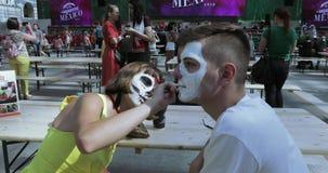 Rysować makeup nieboszczyk lub czaszka zbiory