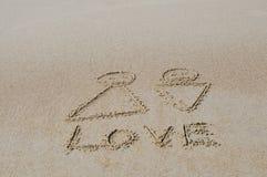 Rysować na piasku Zdjęcia Royalty Free