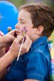 Rysować na twarzy zdjęcia stock