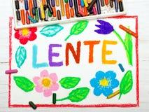Rysować: Nederlands formułuje wiosnę LENTE Zdjęcie Royalty Free
