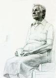 Rysować starsza kobieta ilustracji