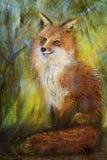 Rysować uśmiechnięty siedzący lis ilustracji