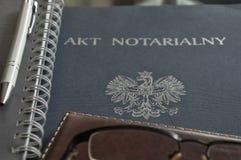 Rysować - w górę notarialnego aktu dla klientów fotografia stock