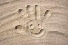 Rysować w piasku Zdjęcia Stock