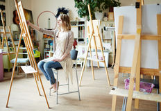 Rysować w workroom zdjęcie stock