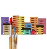 Rysować dom Fotografia Stock