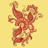 Rysować henna Ilustracji
