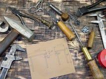 Rysować i instrumenty Zdjęcie Stock