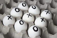 Rysować na jajkach - palec u nogi gra Obraz Royalty Free
