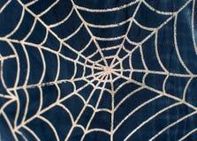 Rysować na tkaniny sieci dla Halloween Zdjęcia Royalty Free