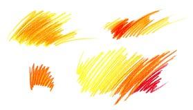 Rysowa? z Barwionymi o??wkami Różnego koloru dynamiczny liniowy podcieniowanie pojedynczy bia?e t?o ilustracji