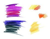 Rysowa? z Barwionymi o??wkami R??nego koloru dynamiczny liniowy podcieniowanie pojedynczy bia?e t?o ilustracja wektor