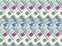 ryss 1000 för rouble för bakgrundspengarstapel Royaltyfri Bild