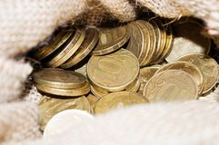 Ryss closeup för 10 rubelmynt Arkivbilder