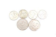 ryss för metalliska pengar Royaltyfri Fotografi