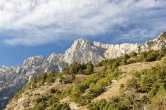 ryss för ossetia för berg för alaniacaucasus federation nordlig Arkivfoto