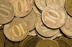 Ryss myntar bakgrund Royaltyfri Fotografi