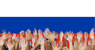 Ryss Pride Unity Concept för Ryssland flaggapatriotism Royaltyfri Bild