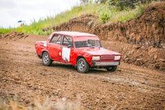 Ryss samlar den tävlings- bilen Royaltyfria Foton