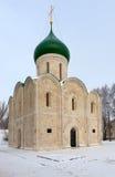 Ryss stenar först domkyrkan av det 12th århundradet i Pereslavl Z Arkivfoto