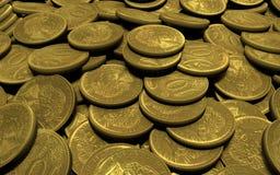ryssen för placer för myntmyntguld fördelade tio royaltyfri illustrationer