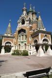 Rysskyrka i Nice Royaltyfri Fotografi