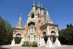 Rysskyrka i Nice Royaltyfri Foto