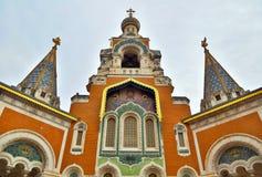 Rysskyrka i Nice Royaltyfri Bild