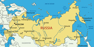 Ryssland - översikt royaltyfri illustrationer