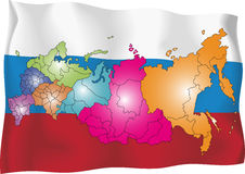 Ryssland översikt Royaltyfri Foto