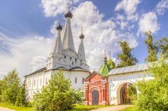 Ryssland Alexeevsky kloster Uglich Arkivbilder