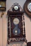 Ryssland Angarsk 02/01/2018 museum av den forntida klockan Arkivfoton