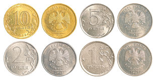 Ryssland cirkulerande mynt Arkivbild