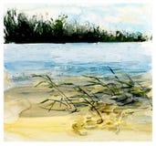 Ryssland Dragen illustration för vattenfärg hand vektor illustrationer