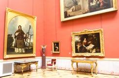 Ryssland. Eremitboningen. Hall av italiensk konst av 17-18 århundraden. Arkivbilder