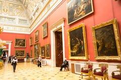 Ryssland. Eremitboningen. Hall av italiensk konst av 17-18 århundraden. Arkivbild