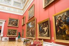 Ryssland. Eremitboningen. Hall av italiensk konst av 17-18 århundraden. Arkivfoto