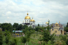 Ryssland Essentuki, tempelkomplexet av Peter och Paul Royaltyfri Bild