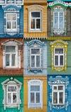 Ryssland Fönstren av staden Suzdal Royaltyfria Foton