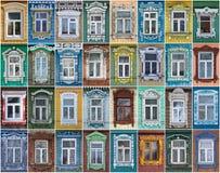 Ryssland Fönstren av staden Suzdal Arkivbilder