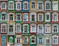 Ryssland Fönstren av staden Vereya Royaltyfria Foton